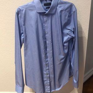 Calvin Klein Slim Fit 16 34/35 Blue Shirt